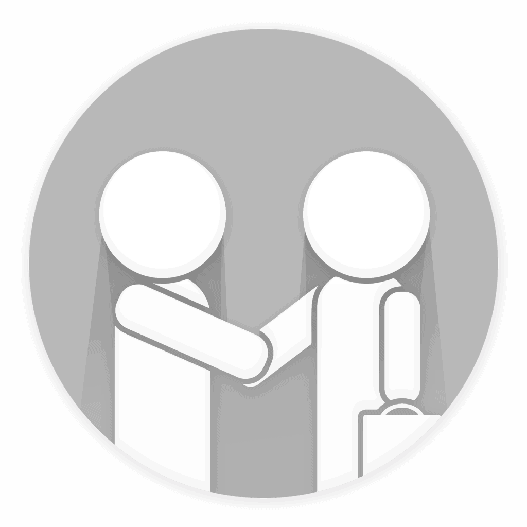 Two professional figures shaking hands