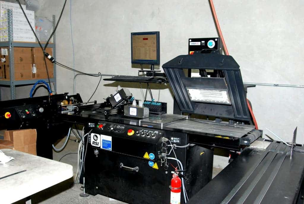 Another angle of Skymail International's inkjet printer