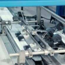 Close-up look at Skymail International's Inserter Machine