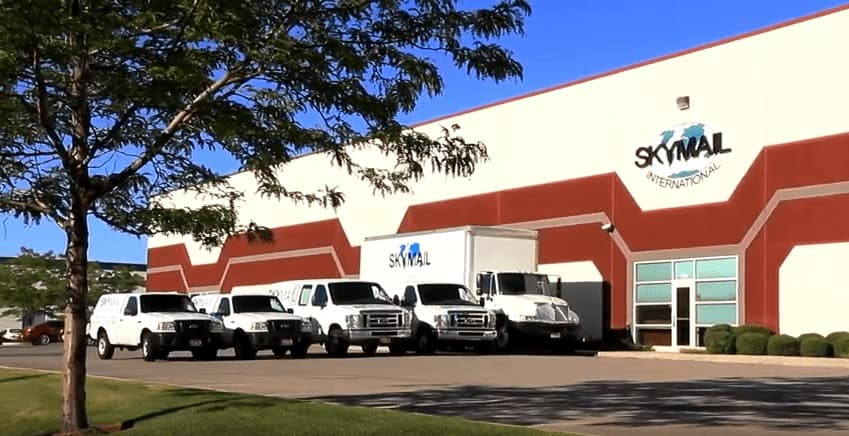 Picture of the outside of Skymail International's offices and warehouse