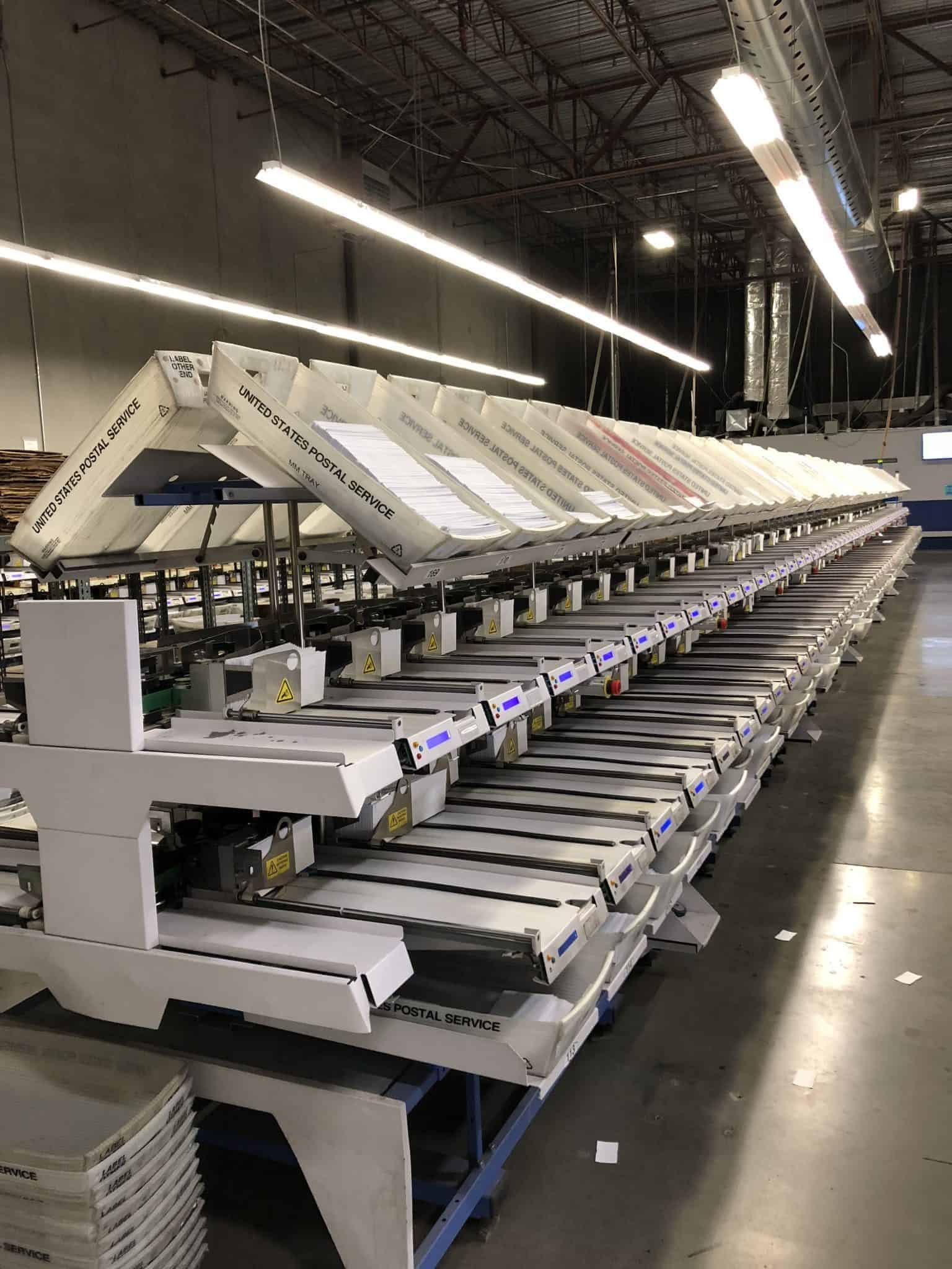 Image of Skymail's sorting machine