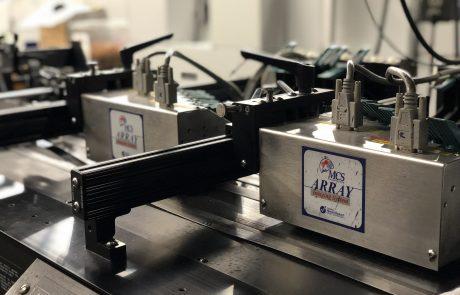 Close-up image of machinery of inkjet machine